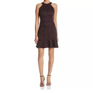 Michael Kors Merlot/Black Fit & Flare Dress XL